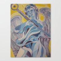 nico di angelo Canvas Prints featuring angelo by Dania Beatriz Jimenez