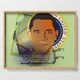 President Obama Serving Tray