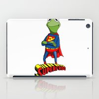 kermit iPad Cases featuring Kermit the Superman by JoshEssel