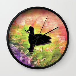 Swimming in colors Wall Clock
