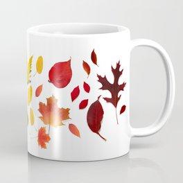 Autumn Rainbow, Fallen Leaves Coffee Mug