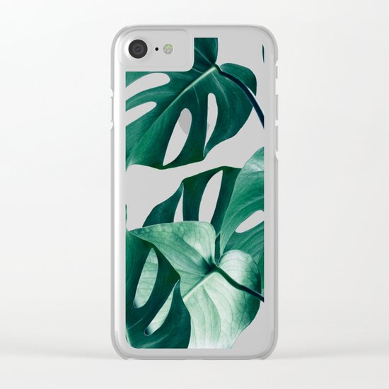 Monstera #society6 #artprints #buyart Clear iPhone Case