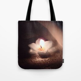 Floating Candle Light Tote Bag