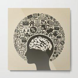 Business a head2 Metal Print