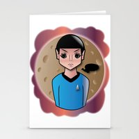spock Stationery Cards featuring Spock by hannahroset