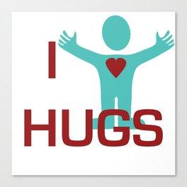 I heart Hugs Canvas Print