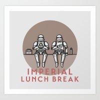 Imperial Lunch Break Art Print