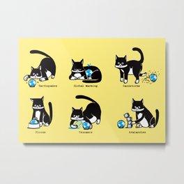 Cat disasters Metal Print