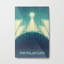 Earth - The Polar Caps Metal Print