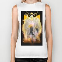 tarot Biker Tanks featuring Judgement Tarot by Jess Clapper