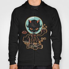 DJ Hammerhand cat - party at ogm garden Hoody