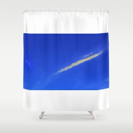 Flash of gold in the sky Shower Curtain