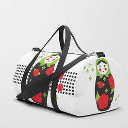 Pop-art Russian Doll Matryoshka Duffle Bag