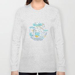 GVVT - Line art colors version Gruppo Volo a Vela Ticino Long Sleeve T-shirt