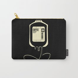 Coffee Transfusion - Black Carry-All Pouch