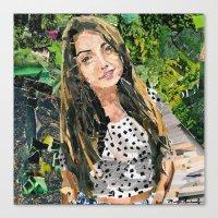 bianca green Canvas Prints featuring Bianca by Maritza Hernandez