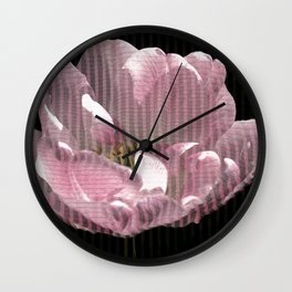 Tulip with gauze textured petals Wall Clock