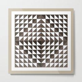 Triangular Mesh I Metal Print