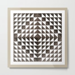 Triangular Mesh I Metal Print