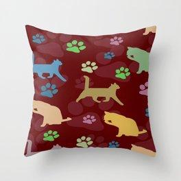 Cats cats cats ! Throw Pillow