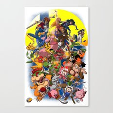 Smash Bros Melee! Canvas Print