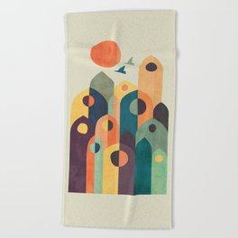 Ancient city Beach Towel