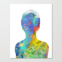 kozyndan Canvas Prints featuring Ocean Thoughts by kozyndan