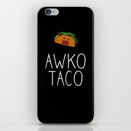 Awko Taco Domo iPhone Skin