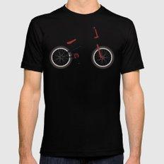 BMX Bike Black Mens Fitted Tee MEDIUM
