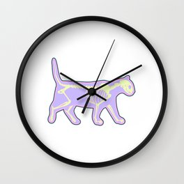 Colorful Tee For the Gothic You With Illustration Of An X-ray T-shirt Design Bones Skull Inside Look Wall Clock