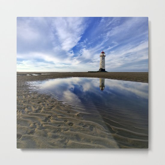 Lighthouse squared Metal Print