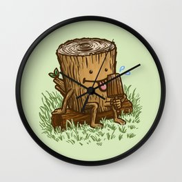 The Popsicle Log Wall Clock