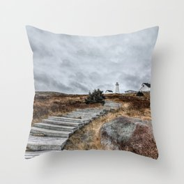 Most Easterly Lighthouse Throw Pillow