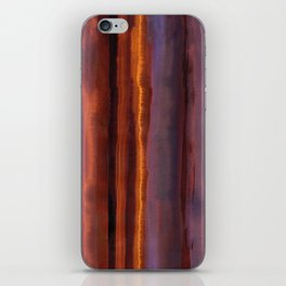 Wildfire Watercolor Stripe iPhone Skin