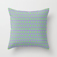 monsters inc Throw Pillows featuring Monsters, Inc. Circle Pattern by Jennifer Agu