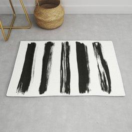 Minimalist Brush Art No. 1 Rug