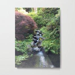 Kubota Garden rock water stream Metal Print
