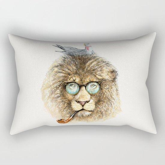 Lion sailor & seagull Rectangular Pillow