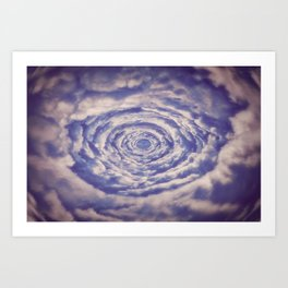 Round Clouds Art Print