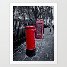 Red is the Colour Art Print