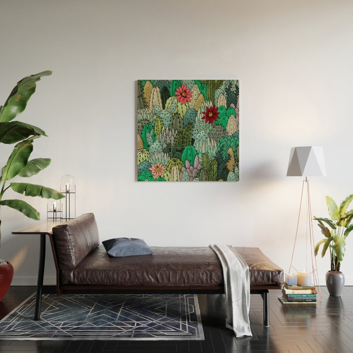Cactus Collection Wood Wall Art
