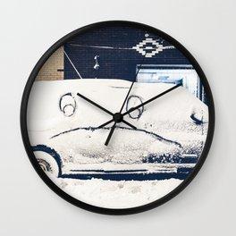 Snowy Mad Truck Wall Clock