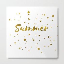 Summer lettering Metal Print