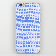 Abstract azure navy pattern iPhone & iPod Skin