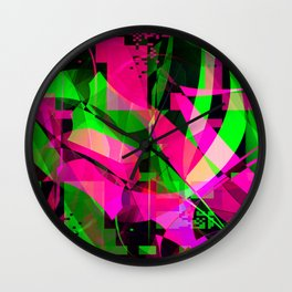 pink & lime Wall Clock
