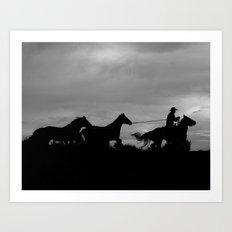 Homeward Bound Cowboy Art Print