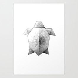 Turtle Origami Art Print
