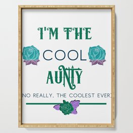 Aunt Famiy Fun I'm the Cool Aunty Serving Tray