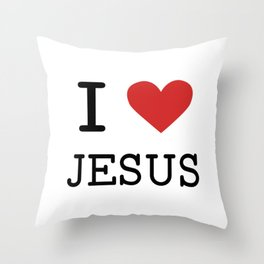 Christian,Bible Quote,I love Jesus Throw Pillow