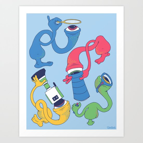 Eye Spy Art Print